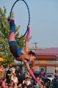 Michelle Maillet de Cocagne qui enseigne à Atlantic Cirque en performance au Festival. - Acadie Nouvelle: Sylvie Mousseau