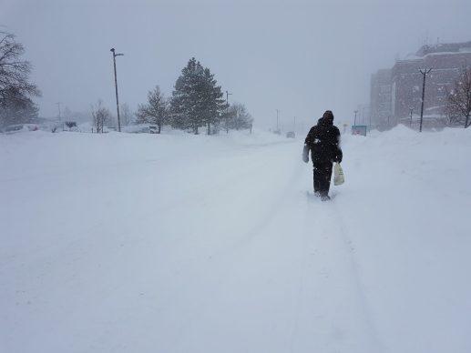 Les conditions météorologiques à Moncton jeudi étaient exécrables. - Acadie Nouvelle: Patrick Lacelle