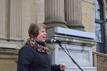 Norma Robinson est la présidente du Conseil des syndicats hospitaliers du Nouveau-Brunswick. - Acadie Nouvelle: Mathieu Roy-Comeau