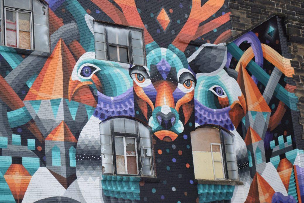 Une partie de la murale réalisée par Eelco van den Berg dans le cadre du Festival Inspire 2016. - Archives