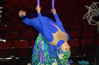 Justy Molinares répète son numéro pour le nouveau spectacle de LaB CirK de Circus Stella. - Acadie Nouvelle: Sylvie Mousseau