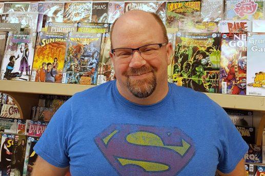 Steve Henderson, copropriétaire du commerce Heroes' Beacon, à Saint-Jean. - Gracieuseté