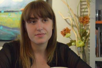 Caroline Savoie en entrevue à Moncton. - Acadie Nouvelle: Sylvie Mousseau