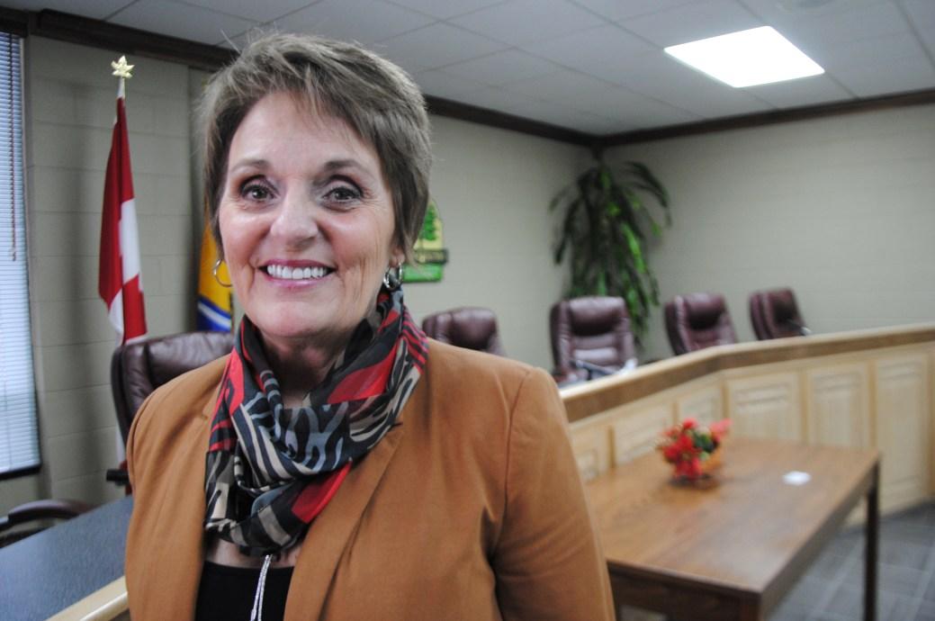 Nicole Somers, mairesse de Saint-Quentin. - Archives