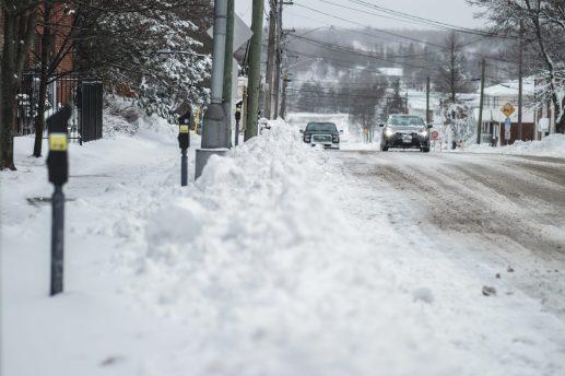 Après avoir reçu plusieurs centimètres de neige, de la pluie s'abattait sur le Grand Moncton, mercredi matin. - Acadie Nouvelle: Patrick Lacelle