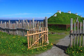 Le site de de l'Anse aux Meadows, situé au nord de Terre-Neuve, le seul emplacement viking confirmé en Amérique du Nord. - Archives