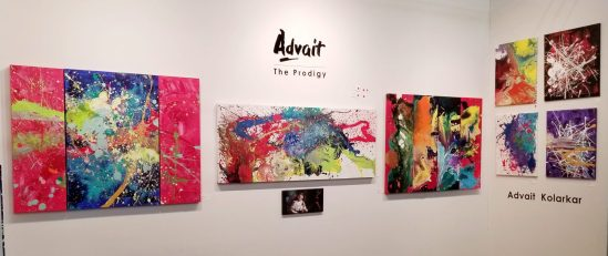 Quelques-une des peintures du jeune prodige. - CANADIAN PRESS/HO, Shruti Kolarkar *MANDATORY CREDIT*