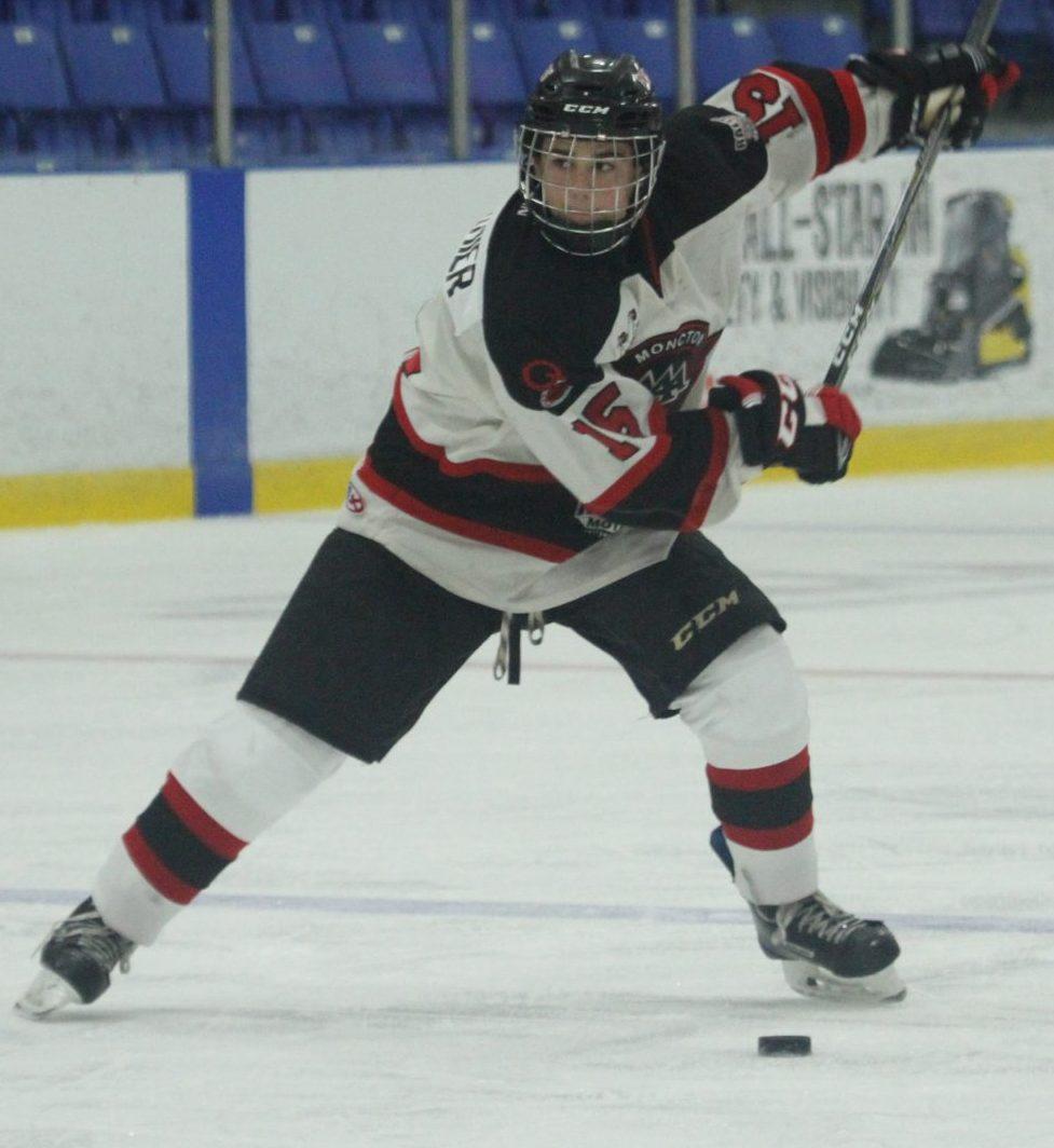 Lukas Cormier, des Flyers midget majeur de Moncton. - Archives