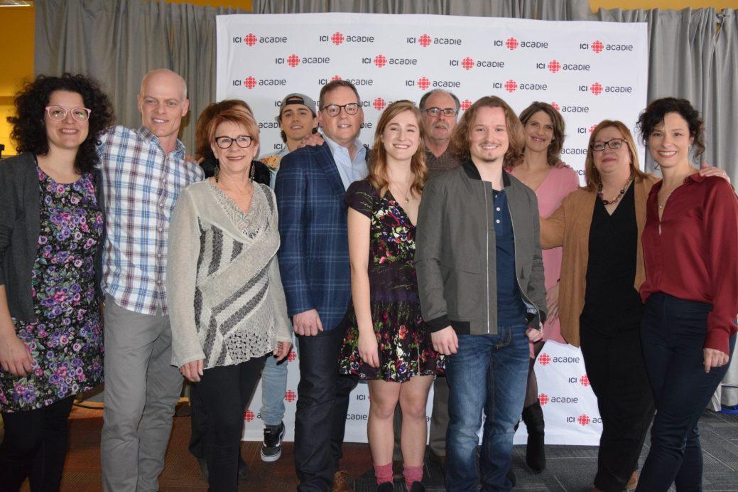 Une partie de l'équipe de la série dramatique Conséquences dans les bureaux de production à Moncton. - Acadie Nouvelle: Sylvie Mousseau