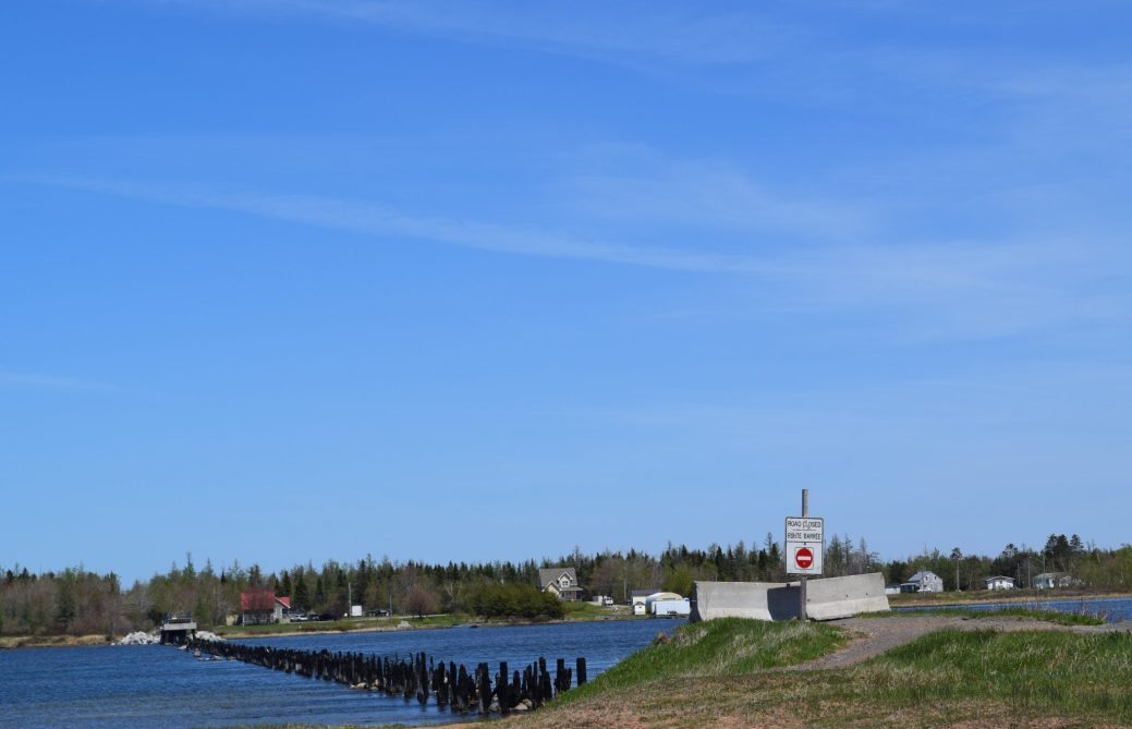 Le pont d'Inkerman a été détruit dans un incendie en septembre 2017. - Acadie Nouvelle: David Caron