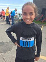 Âgée de seulement 10 ans, May Linda Boudreau, de Dunlop, a remporté la classe féminine du 5 km. - Acadie Nouvelle: Robert Lagacé