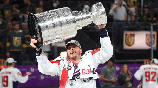 Alex Chiasson a disputé 16 rencontres éliminatoires avec les Capitals de Washington, nouveaux champions de la coupe Stanley. - Capture d'écran