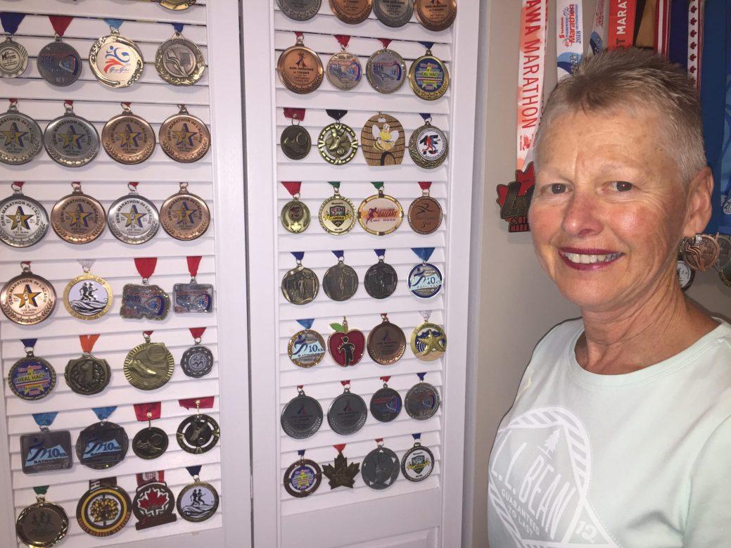 Marcelle Breau a aussi récolté sa large part de médailles au fil des ans. - Acadie Nouvelle: Robert Lagacé