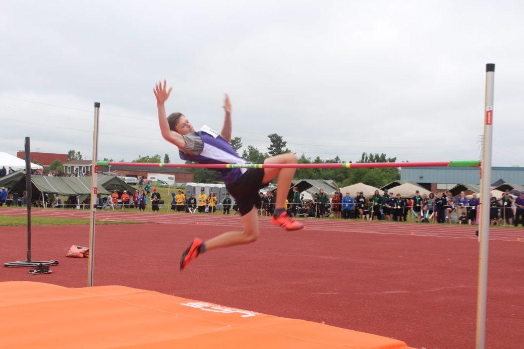 Cameron Miligan a remporté l'or au saut en hauteur. Il visait le record des Jeux, mais a dû se contenter d'un record personnel. - Acadie Nouvelle: Sébastien Larocque