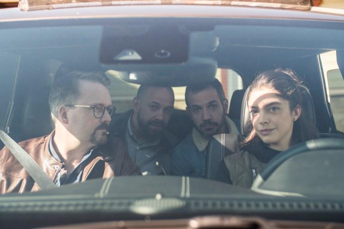 Luc LeBlanc, André Roy, Christian Essiambre et Bianca Richard dans une scène des Newbies. - Gracieuseté.