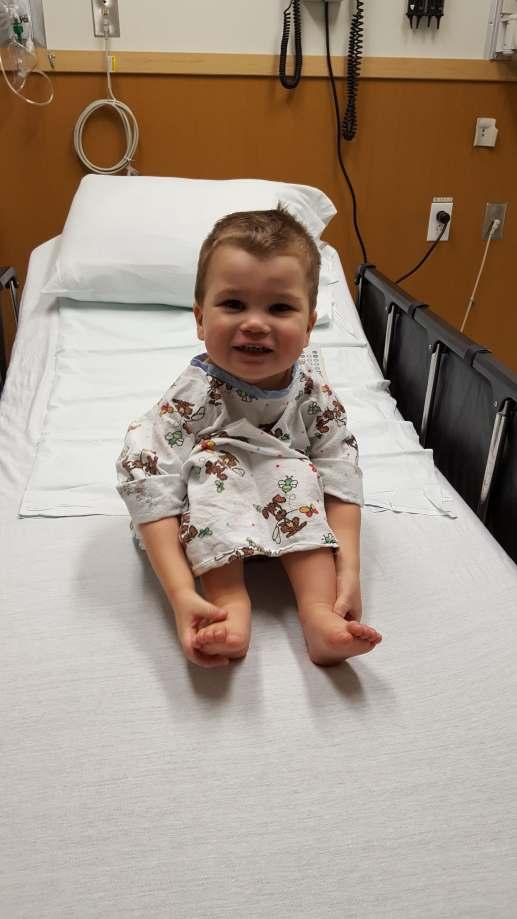 Le cas du petit Justin est très rare, un seul enfant sur 300 000. -Gracieuseté