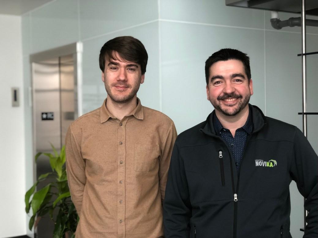 Joël Basque, de Tracadie, et Dominic Lanteigne, de Caraquet. - Gracieuseté: Solutions Novika