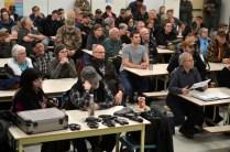 Des citoyens de la grande région de Rogersville ont rempli la cafétéria de l'école Étoile de l'Acadie pour une ultime réunion sur le regroupement de la région en communauté rurale. - Acadie Nouvelle: Jean-Marc Doiron