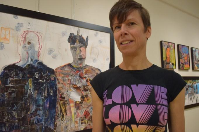 Sylvie Pilotte présente son exposition Déraisonance dans plusieurs villes du Nouveau-Brunswick. Cette photo a été prise en septembre 2018 au Centre culturel Aberdeen. - Acadie Nouvelle: Sylvie Mousseau