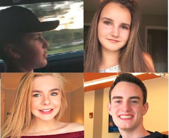 Avery Astle, âgé de 16 ans, Cassie Lloyd, âgée de 17 ans, Emma Connick, âgée de 18 ans, et Logan Matchett, âgé de 17 ans. - Gracieuseté: Facebook