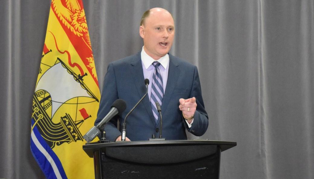 Le ministre de l'Éducation postsecondaire, de la Formation et du Travail, Trevor Holder. - Acadie Nouvelle: Mathieu Roy-Comeau