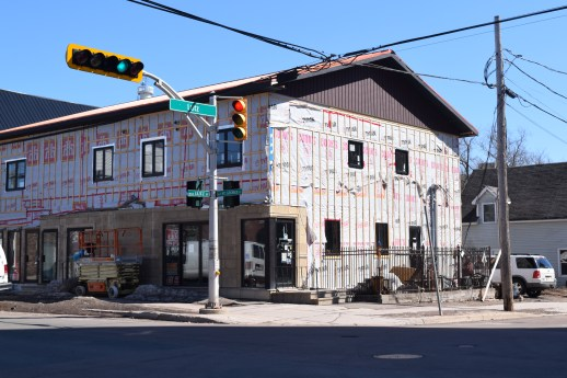 Cet édifice en rénovation du centre-ville de Moncton a abrité le Plan b pendant environ 10 ans. - Acadie Nouvelle: Sylvie Mousseau