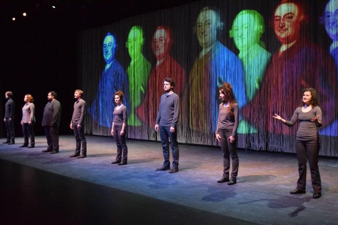 Les comédiens de la pièce Winslow en répétition au théâtre l'Escaouette. - Acadie Nouvelle: Sylvie Mousseau
