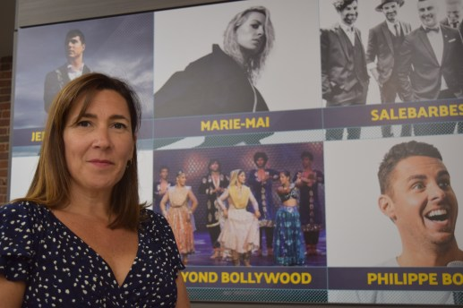 La directrice générale du Théâtre Capitol, Kim Rayworth, présente la programmation de la 26e saison. - Acadie Nouvelle: Sylvie Mousseau