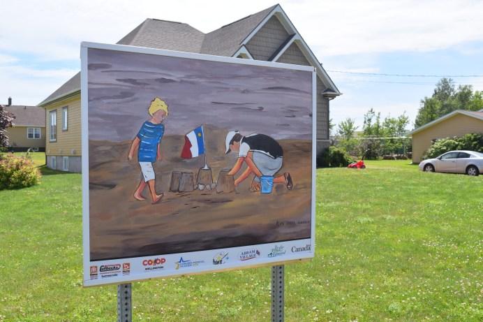 Des peintures ont fait leur apparition le long de la rue principale. - Acadie Nouvelle: Simon Delattre