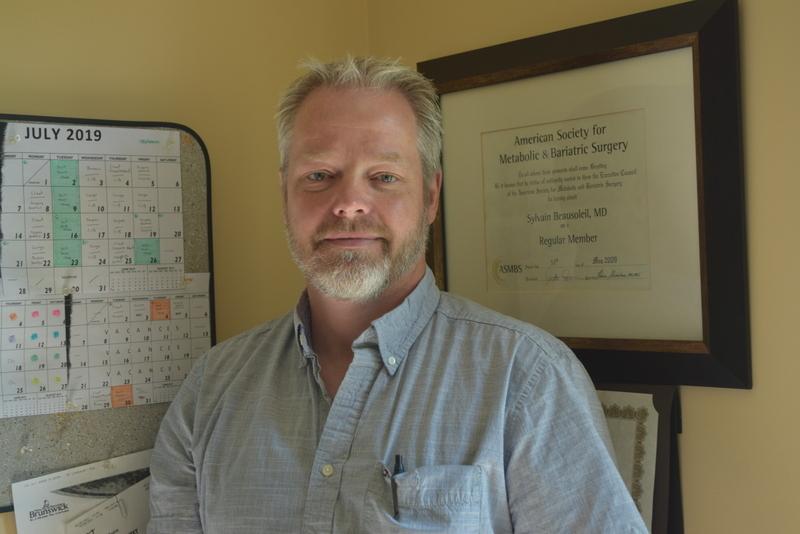 Docteur Sylvain Beausoleil, spécialisé en chirurgie bariatrique au CHU Dr-Georges-L.-Dumont de Moncton.