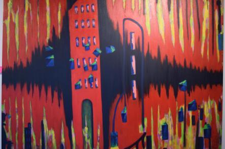 Une oeuvre de Cecil D Long exposée à la Galerie Apple Art. - Acadie Nouvelle: Sylvie Mousseau