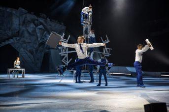 Le 30 juillet 2019. Shawn Sawyer en pleine action dans le spectacle Crystal du Cirque du Soleil. - Gracieuseté: Matt Beard, Cirque du Soleil