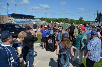 Plus de 10 000 spectateurs se sont rendus au Stade Croix-Bleue Medavie pour le 4e Touché Atlantique, dimanche. - Acadie Nouvelle: Jean-Marc Doiron