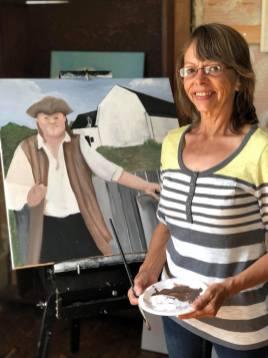 Melda Hébert, une artiste de la région Chaleur, veut rendre hommage à Charles Doucet, constructeur de la maison Doucet Hennessy. - Gracieuseté