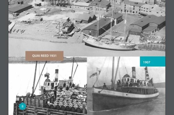 La construction navale a joué un rôle important dans le développement de Moncton jusqu'à l'avènement du chemin de fer. - Tiré du rapport Vision d'avenir du secteur riverain à Moncton
