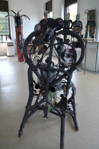 L'artiste Sylvie Pilotte a présenté les oeuvres conçues lors de ses trois mois en résidence à Dalhousie. - Acadie Nouvelle Jean-François Boisvert