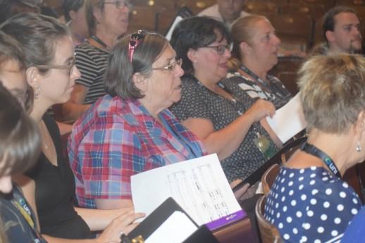 Les choristes participent avec beaaucoup d'entrain au FestiChoeur d'Acadie. - Acadie Nouvelle: Sylvie Mousseau