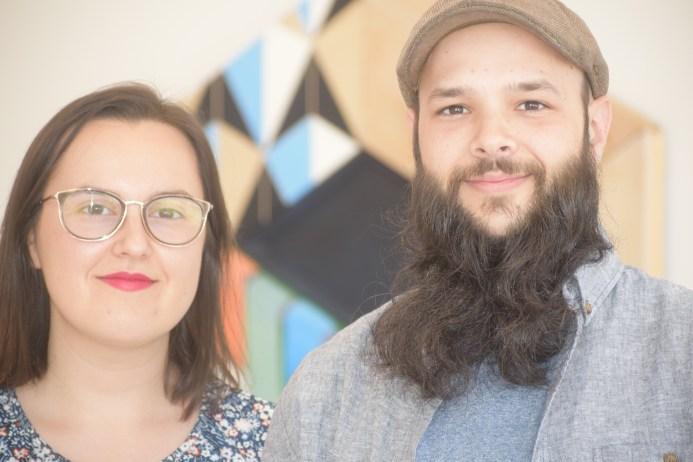 Christine Comeau et Mario LeBlanc dans leur galerie Murmur à Moncton. - Acadie Nouvelle: Sylvie Mousseau.