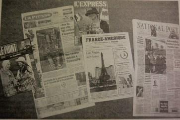 L'événement a bénéficié d'une vaste couverture médiatique à l'étranger. - Acadie Nouvelle: Simon Delattre