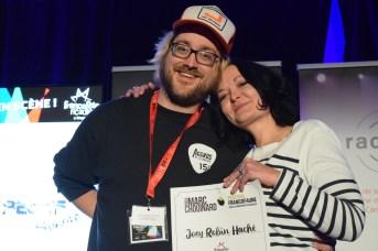 Joey Robin Haché a reçu deux prix à la FrancoFête dont celui du Festival FrancoFaune en Belgique. Acadie Nouvelle: Sylvie Mousseau