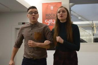 Danik McAfee et Emma Vickers ont offert un bref aperçu de la comédie musicale Wizard of Oz. - Acadie Nouvelle: Sylvie Mousseau