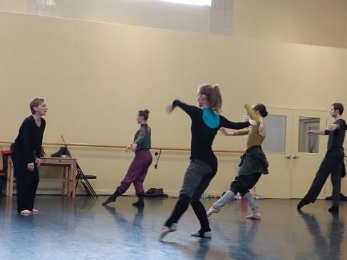Marie-Josée Chartier a offert un atelier de danse moderne aux danseurs du BTAC. - Gracieuseté: Louis-Philippe Dionne