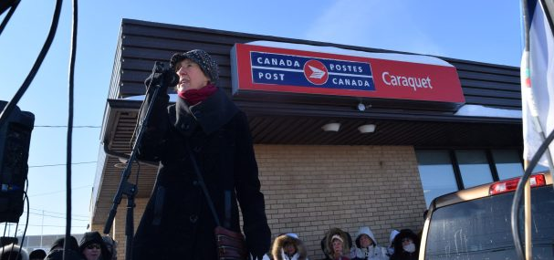 Louise Blanchard, porte-parole du Comité Action H. -Acadie Nouvelle: David Caron