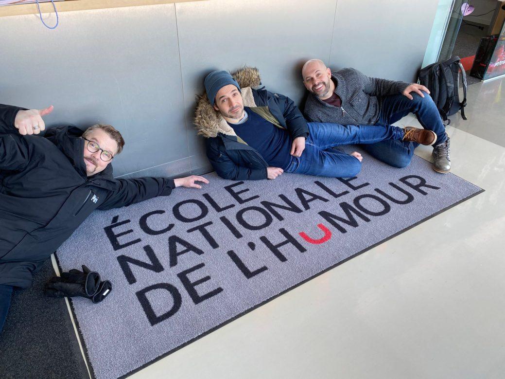 Luc LeBlanc, Christian Essiambre et André Roy des Newbies en voyage à Montréal. Gracieuseté: Nancy Ripeau