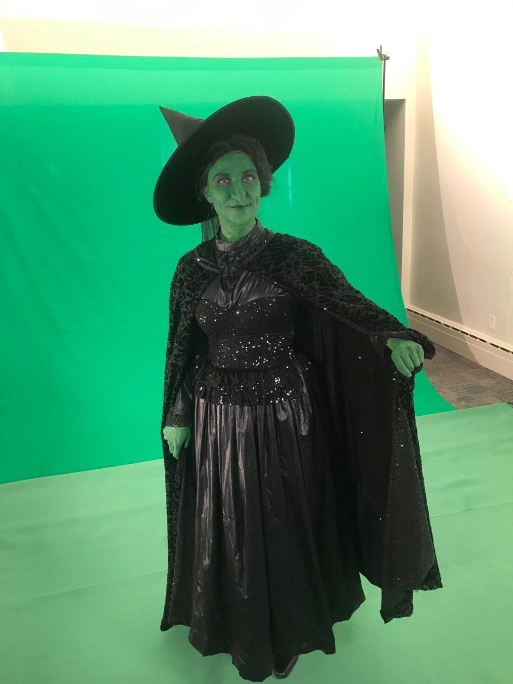 Mélanie LeBlanc dans son costume de la méchante sorcière. -Gracieuseté.