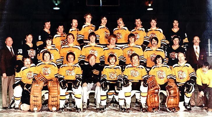 Les Tigres de Campbellton de 1976-77. - Gracieuseté