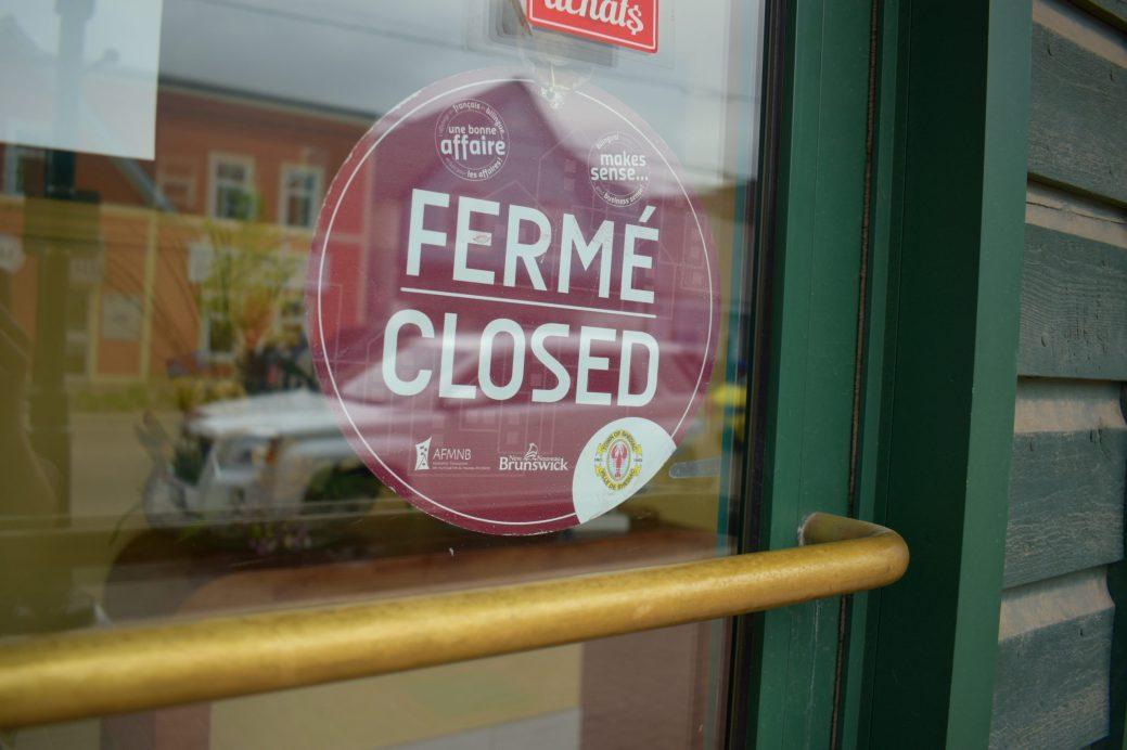 À Shediac, certains propriétaires hésitent à rouvrir les portes de leur commerces. - Acadie Nouvelle: Simon Delattre