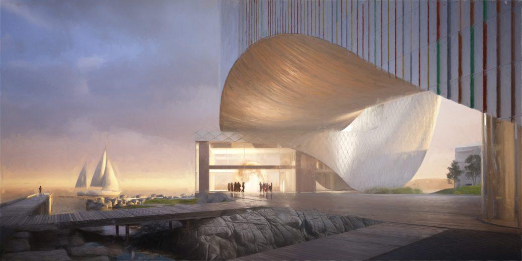 La version du futur Musée des beaux-arts de la Nouvelle-Écosse proposée par firme Acre Architects de Saint-Jean. - Courtoisie