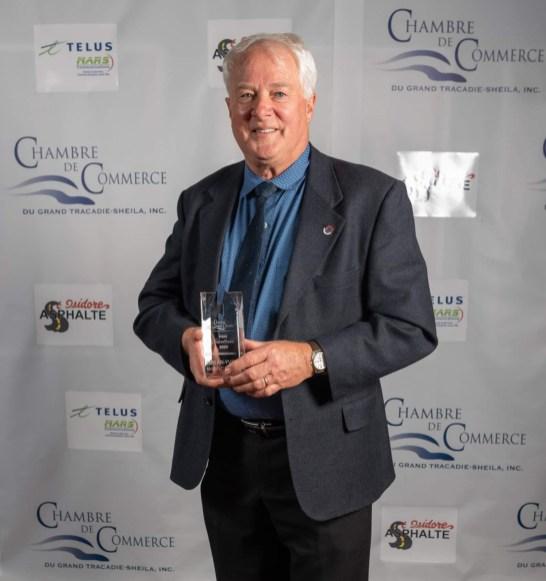 L'entrepreneur Jean-Yves McGraw, lauréat du prix Reconnaissance du 11e Gala Excellence de la Chambre de commerce du Grand Tracadie-Sheila. - Gracieuseté