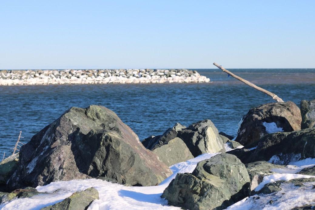 Un enrochement à Le Goulet, dans la Péninsule acadienne. - Acadie Nouvelle: Simon Delattre